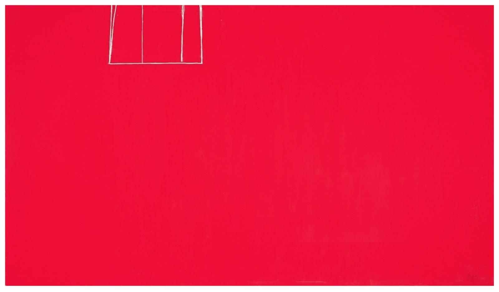 Robert Motherwell Open No. 153: In Scarlet with White Line 1970 acrylic on canvas 86 1/2 x 140 1/4 inches (219.7 x 356.2 cm)  Private collection