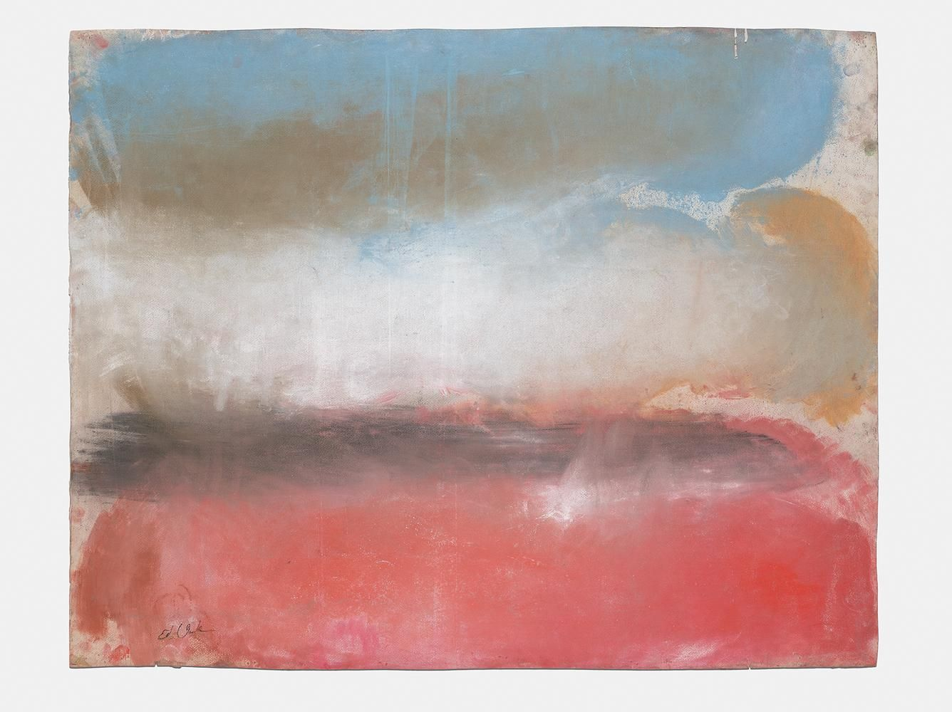 Ed Clark Untitled 2013 dry pigment on paper 38 3/8 x 48 inches (96.5 x 121.9 cm)