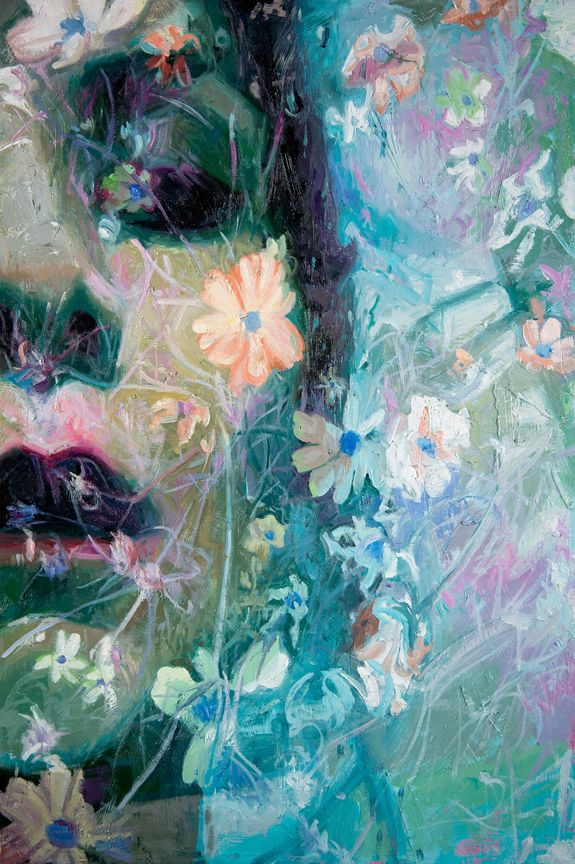Alyssa Monks, Aerosol, 2020, oil on panel, 18 x 12 inches