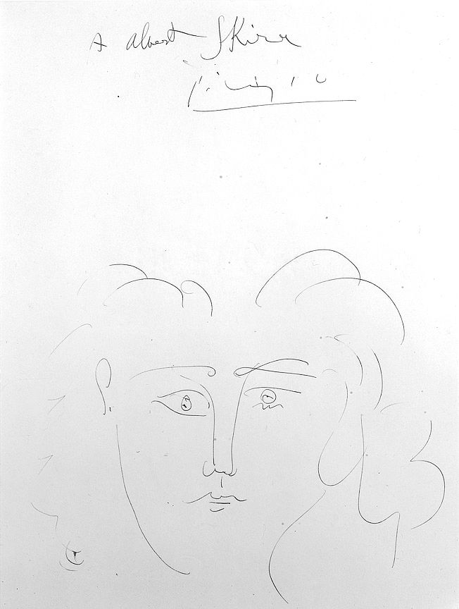 Pablo Picasso, Tête de femme (Dora Maar), c. 1942, pen and India ink on paper, 14 1/2 x 10 7/8 inches