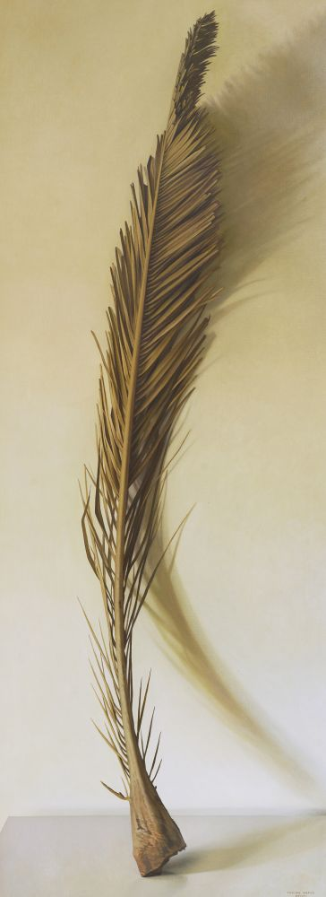 Palm Frond, 2008, oil on canvas, 78 1/2 x 29 3/8 inches
