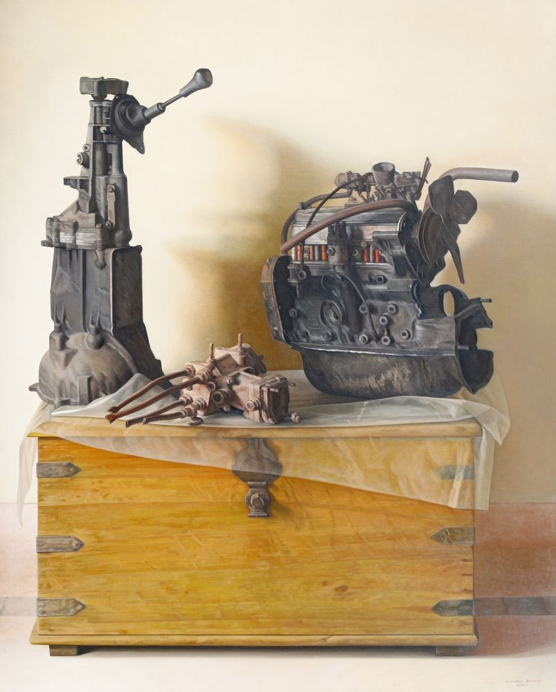 Engines, 2009, oil on canvas, 63 3/4 x 51 1/8 inches