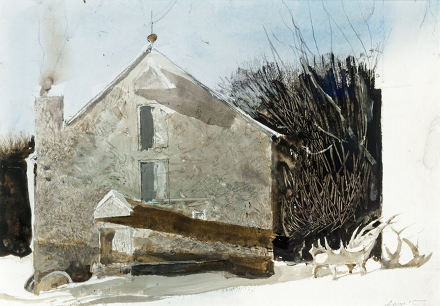 Andrew Wyeth, Antler Chair, 1996, watercolor on paper, 10 x 14 inches