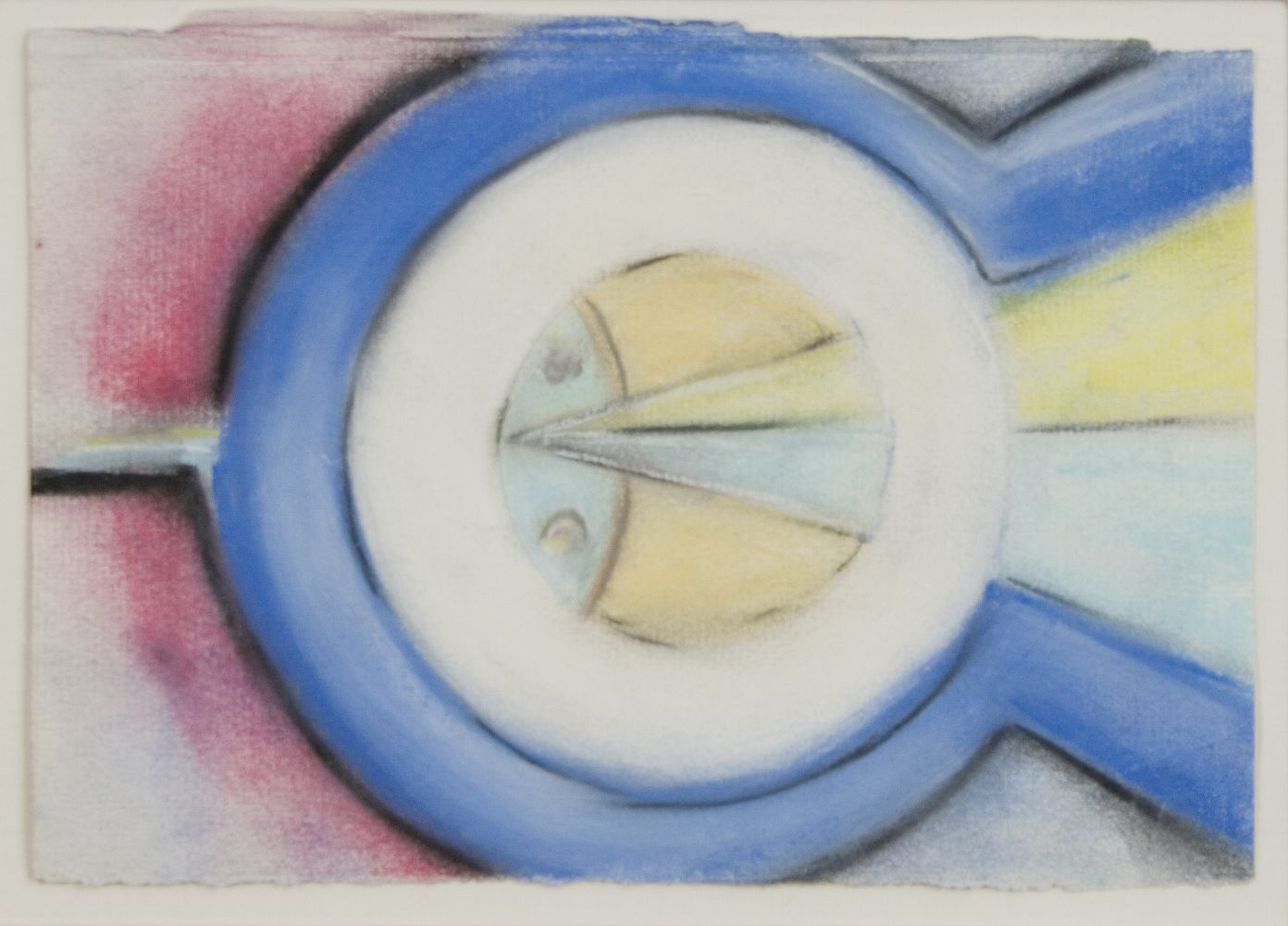 Morton Livingston Schamberg, Machine Composition, c. 1915-16, pastel and pencil on paper, 5 1/2 x 8 inches