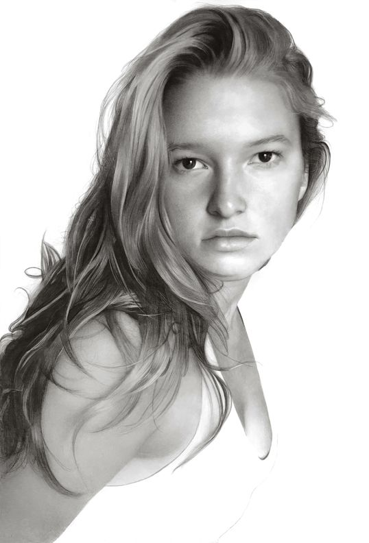 G.G., 2020, compressed charcoal on paper, 87 7/8 x 58 inches