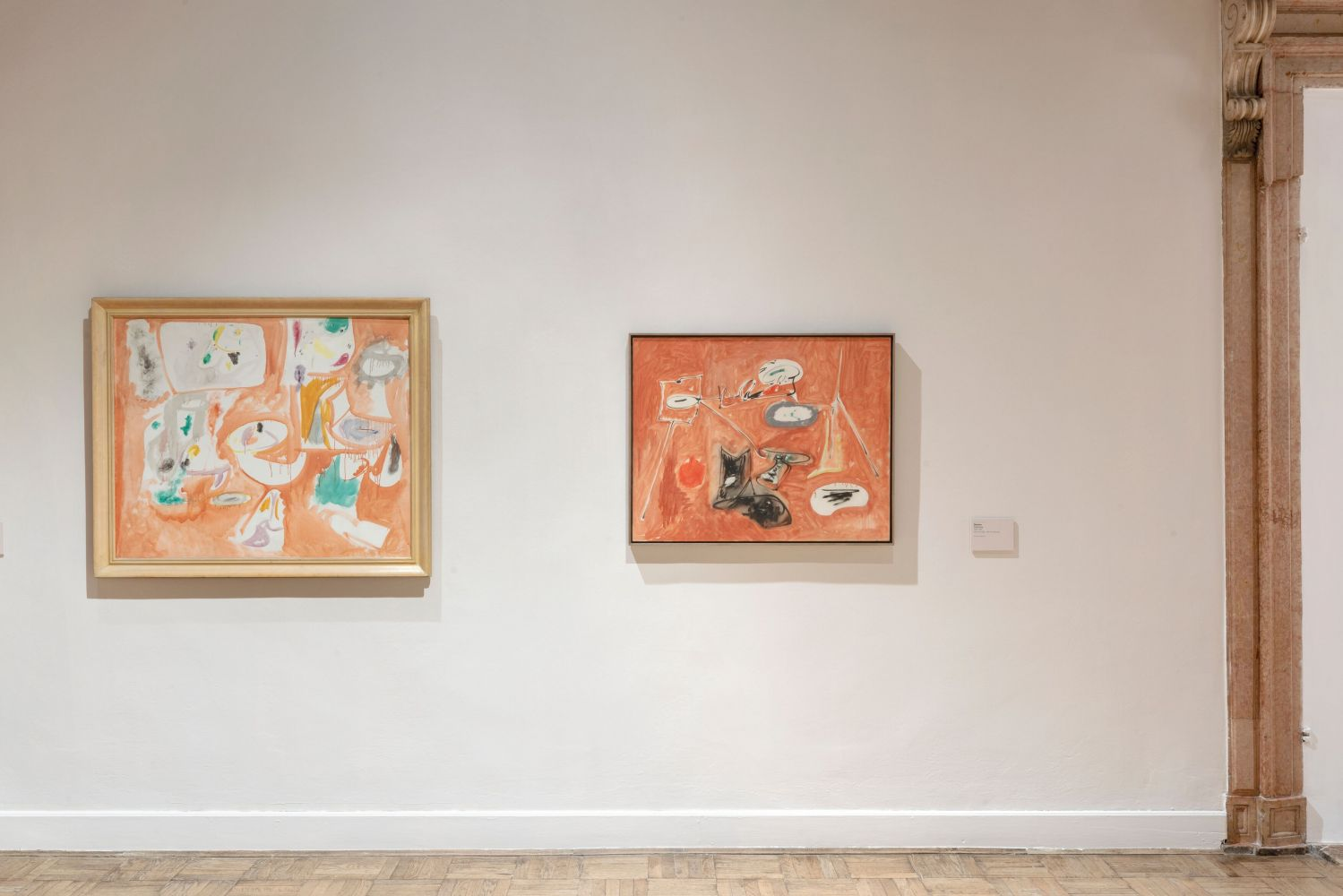 Installation photograph showing two works by Gorky: Anti-Medusa and Untitled (Last Painting)