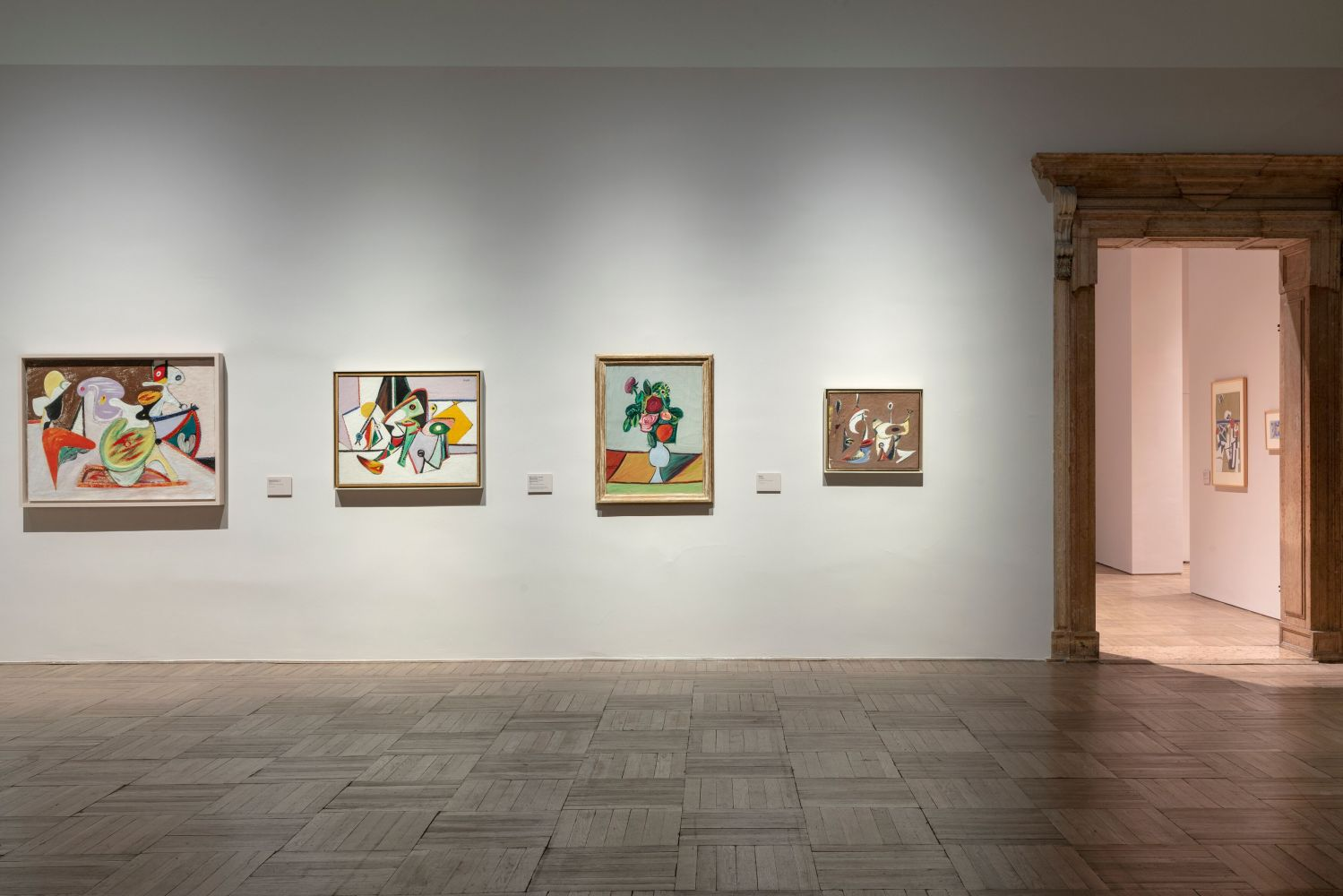 Installation photograph showing paintings by Gorky from the mid to late 1930s