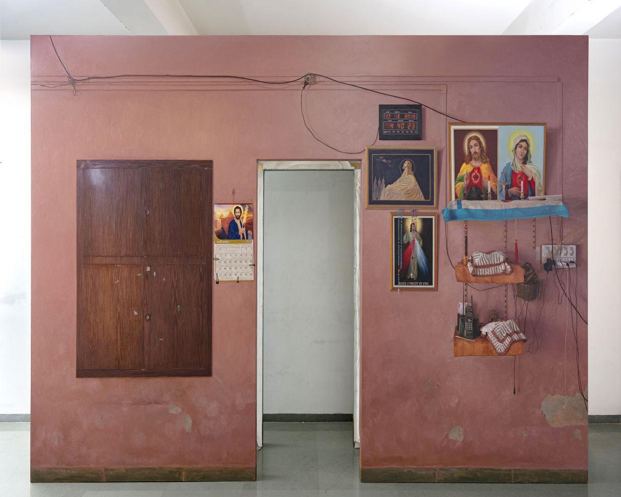ABIR KARMAKAR Passage 4, 2020  Oil on canvas  108 x 168 in / 274.3 x 426.7 cm (Part 2 of Set 2)