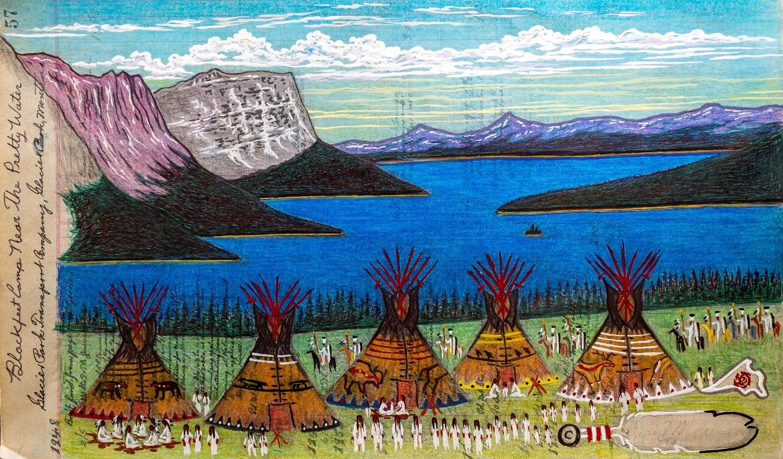 Blackfeet Camp Near the Pretty Water