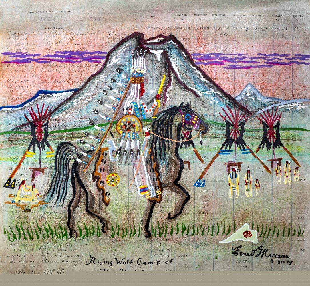 Rising Wolf Camp of the Blackfeet
