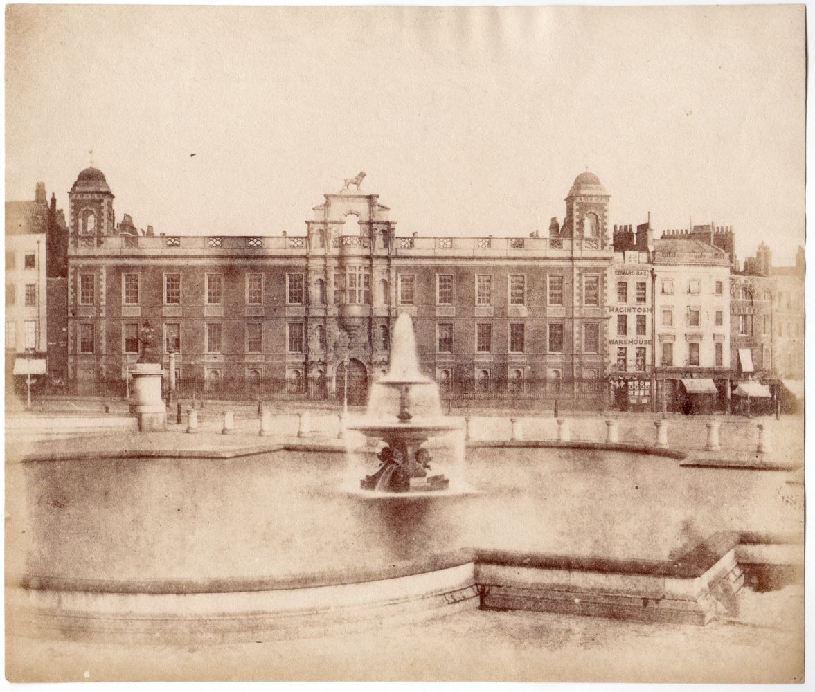 Possibly by Nicolaas HENNEMAN (Dutch, active in England, 1813-1898) Northumberland House, Trafalger Square, London, mid 1840s Salt print from a calotype negative 17.0 x 20.0 cm Unrecognized watermark