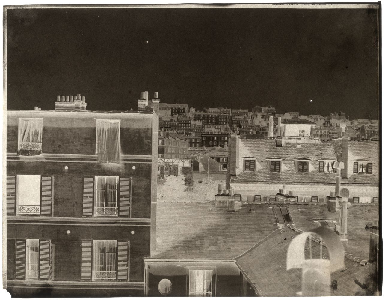 John Beasley GREENE (American, born in France, 1832-1856) Rooftops, Paris*, 1852-1853 or earlier Waxed paper negative 24.3 x 31.2 cm