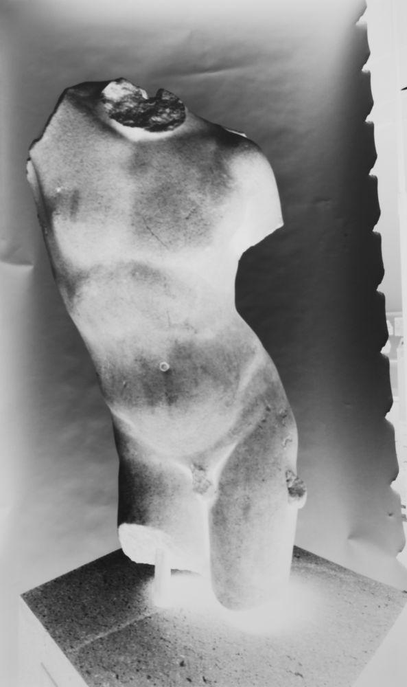 Vera LUTTER (German, b. 1960) Marble Torso of Eros, Metropolitan Museum, 5 November 2012 Unique gelatin silver print 52.7 x 31.1 cm