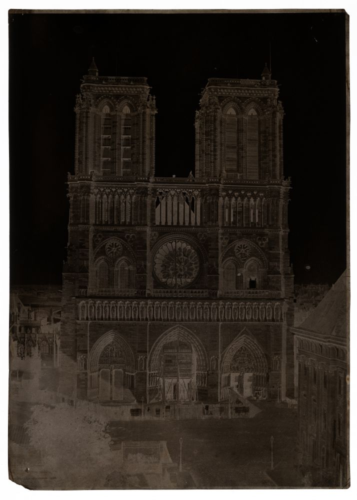 Charles NÈGRE (French, 1820-1880) Notre-Dame, Paris, circa 1853 Waxed paper negative 33.6 x 24.0 cm