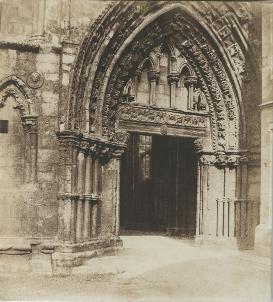 Dr. Thomas KEITH (Scottish, 1827-1895) Holyrood Abbey, west doorway, mid 1850s Salt print from a waxed paper negative 26.8 x 24.4 cm