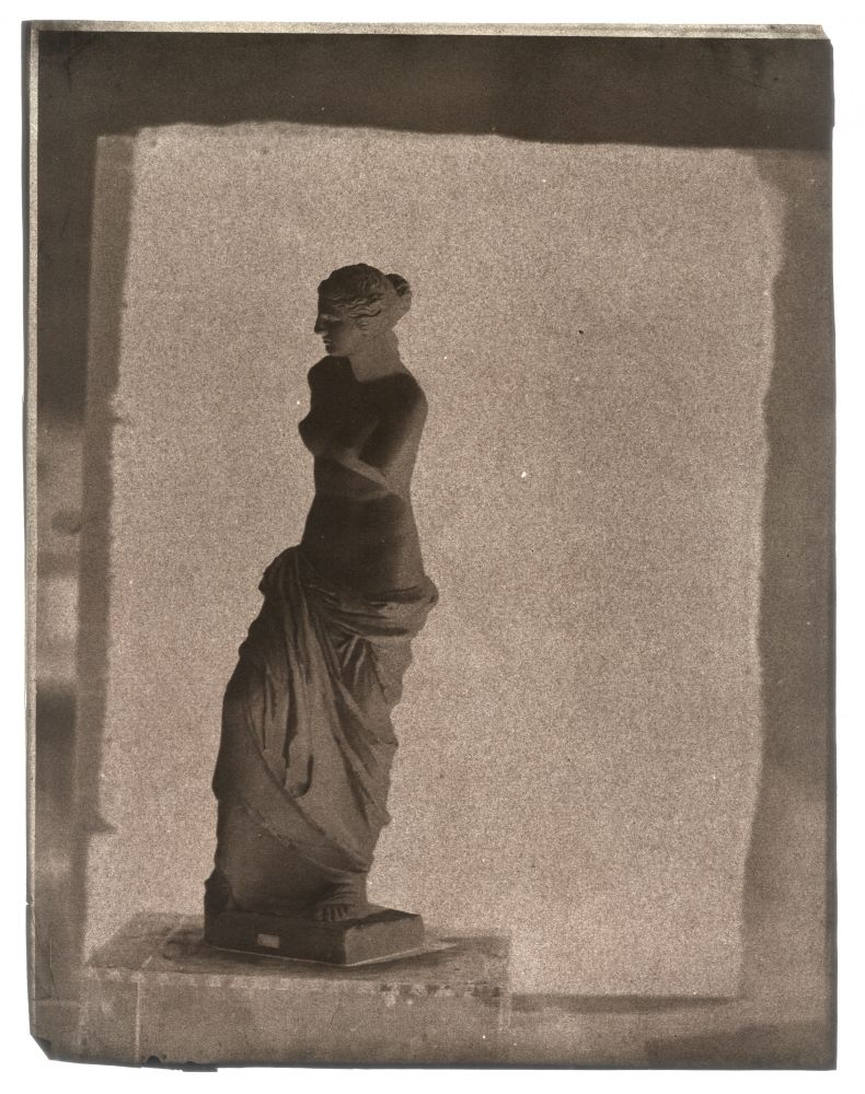 John Beasley GREENE (American, born in France, 1832-1856) Venus de Milo on rooftop in Paris, 1852-1853 Waxed paper negative 31.2 x 24.3 cm