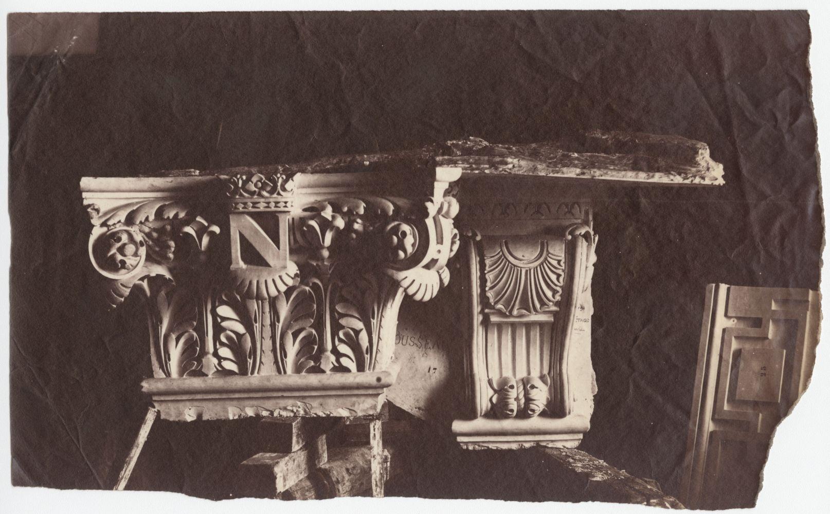 Édouard-Denis BALDUS (French, 1813-1889) Decorative element, Louvre, circa 1856 Albumen print from a collodion negative 13.7 x 22.2 cm