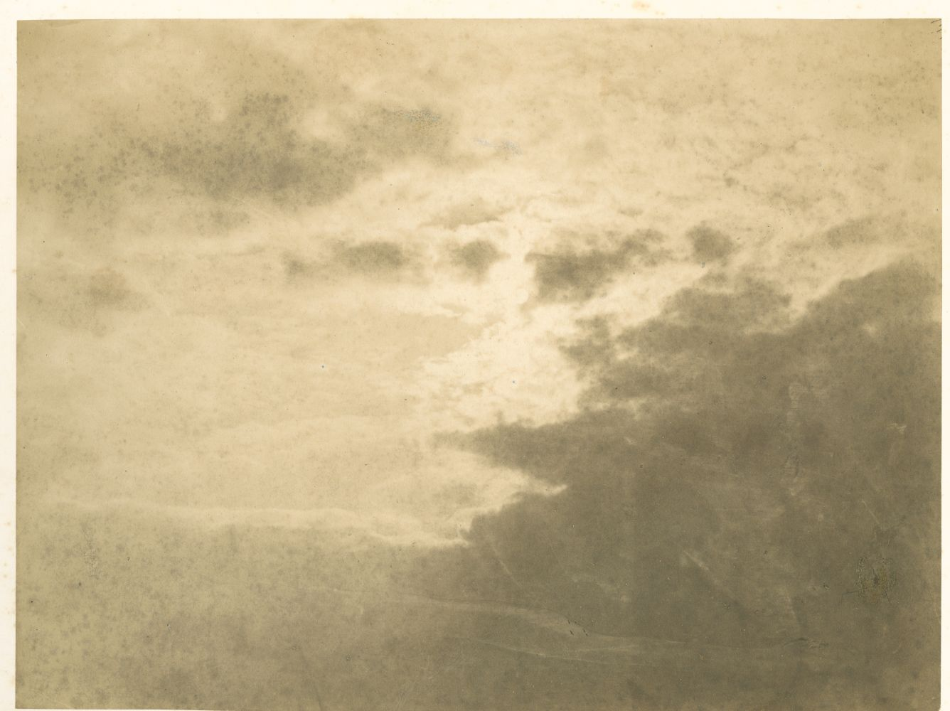 Charles MARVILLE (French, 1816-1879) Cloud Study*, mid 1850s Albumen print 6.18 x 8.23 inches 15.7 x 20.9 cm 15.7 x 20.9 cm, mounted