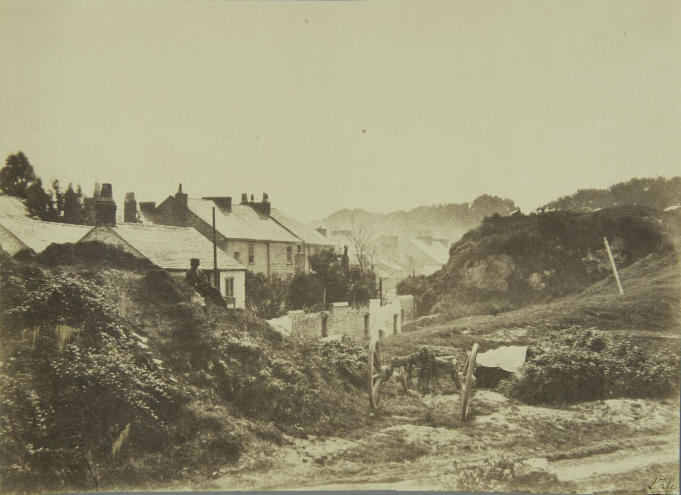 "Captain Linnaeus TRIPE (English, 1822-1902) Devonport, Richmond Walk, England*, 1852-1854 Albumenized salt print from a waxed paper negative 23.9 x 33.4 cm mounted flush on card Signed ""L. Tripe"" in ink"