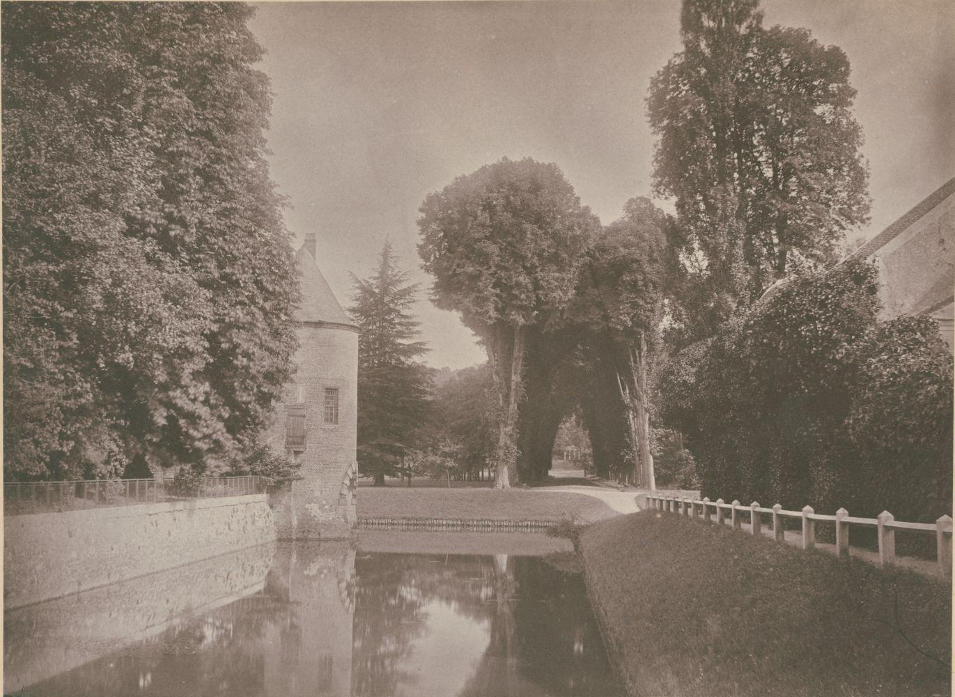 Joseph vicomte VIGIER (French, 1821-1894) Chateau de Grand-Vaux, Savigny sur Orge, the family home of Vigier, circa 1855 Coated salt or albumen print from a paper negative 17.3 x 23.5 cm mounted on 20.6 x 29.2 cm album page