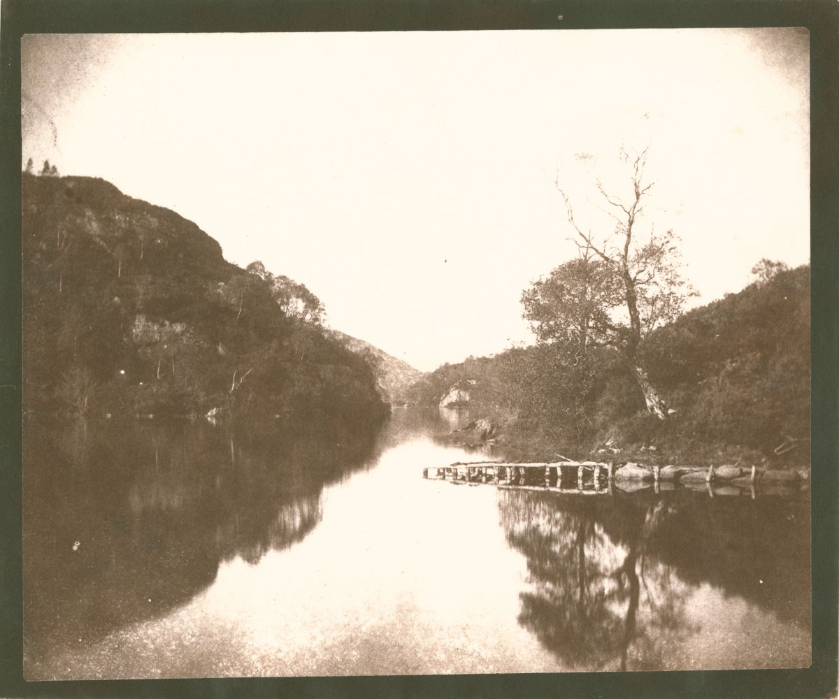 "William Henry Fox TALBOT (English, 1800-1877) Loch Katrine, 1844 Salt print from a calotype negative 17.8 x 21.8 cm on 18.9 x 22.5 cm paper ""LA35"" in ink on verso"
