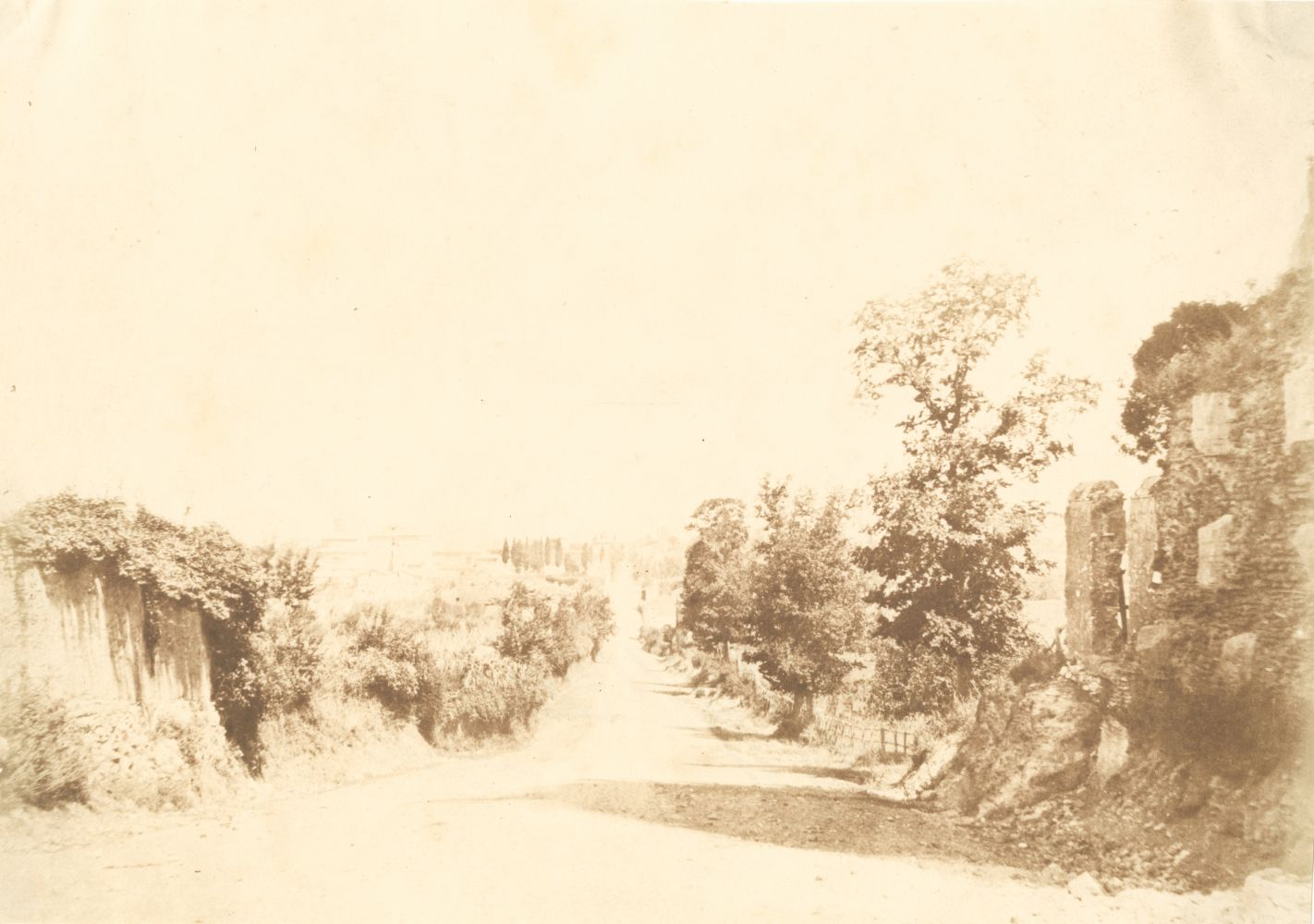 Giacomo CANEVA (Italian, 1813-1865) Via Appia, circa 1850 Salt print from a paper negative