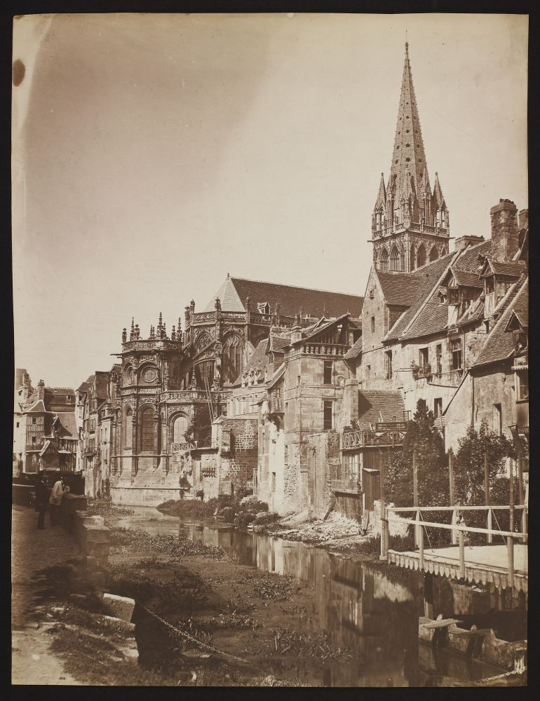 Édouard-Denis BALDUS (French, 1813-1889) Church of Saint-Pierre, Caen, 1858 Salt print from a glass negative 43.9 x 33.6 cm