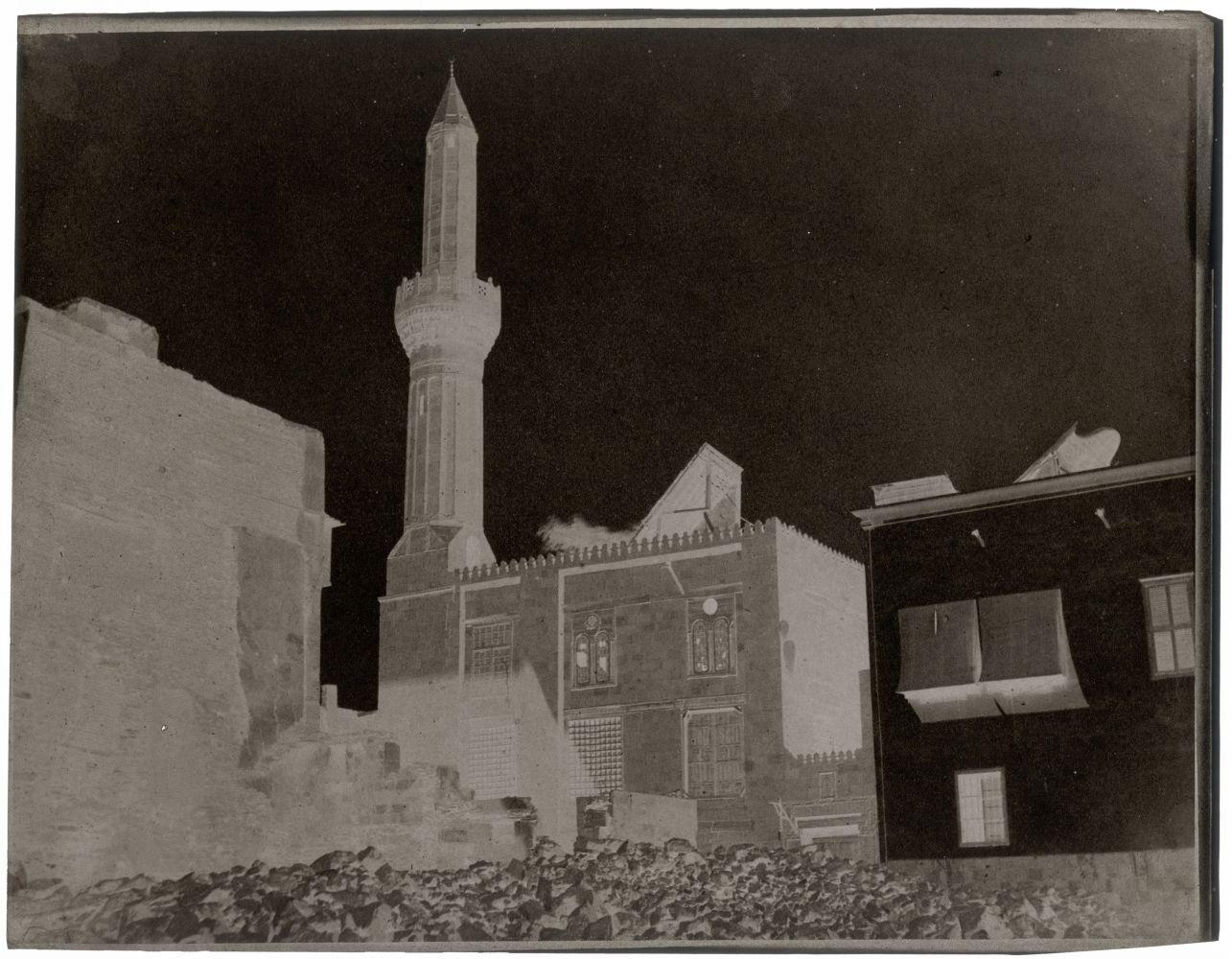 John Beasley GREENE (American, born in France, 1832-1856) Ottoman minaret, Cairo, 1854-1855 Waxed paper negative 24.7 x 31.5 cm