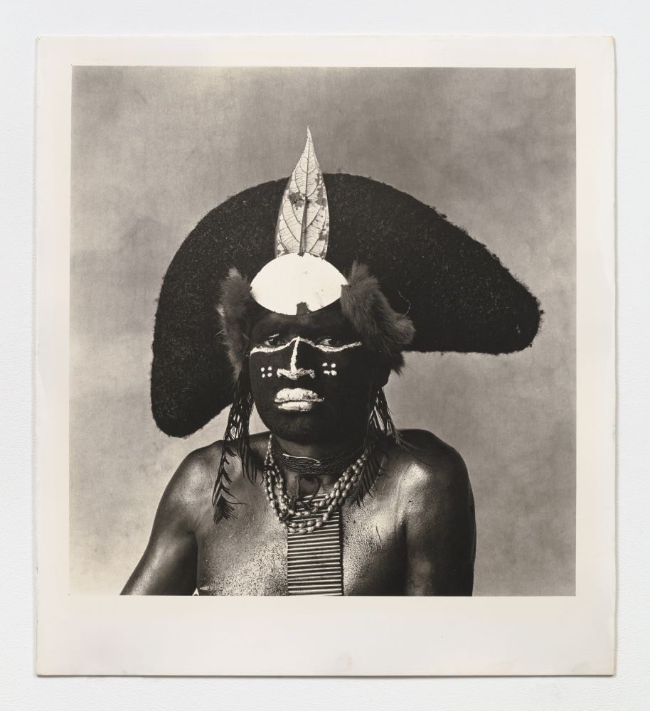 Black and white portrait of an Enga Warrior.