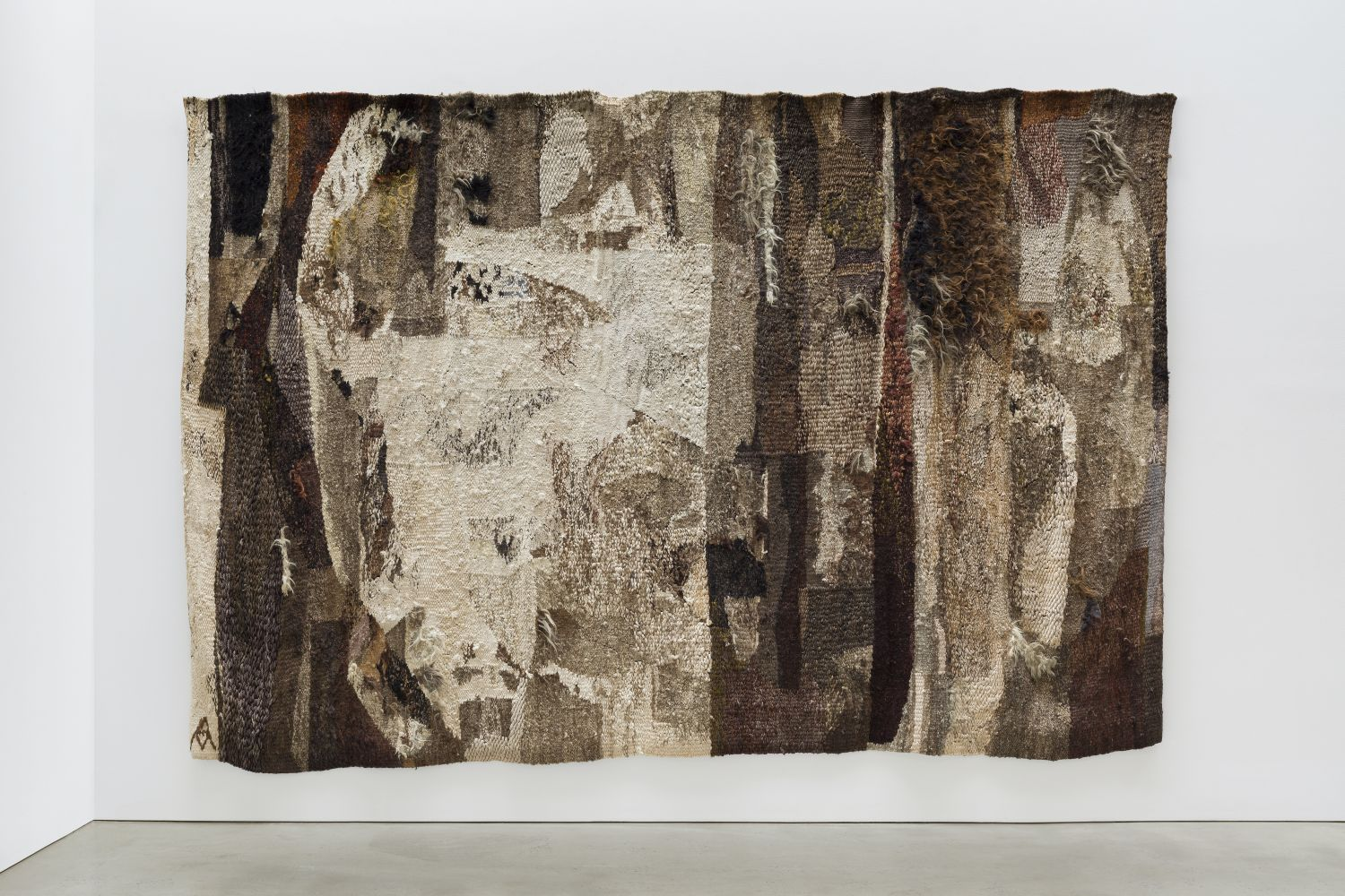 Monochromatic brown textile by Magdalena Abakanowicz