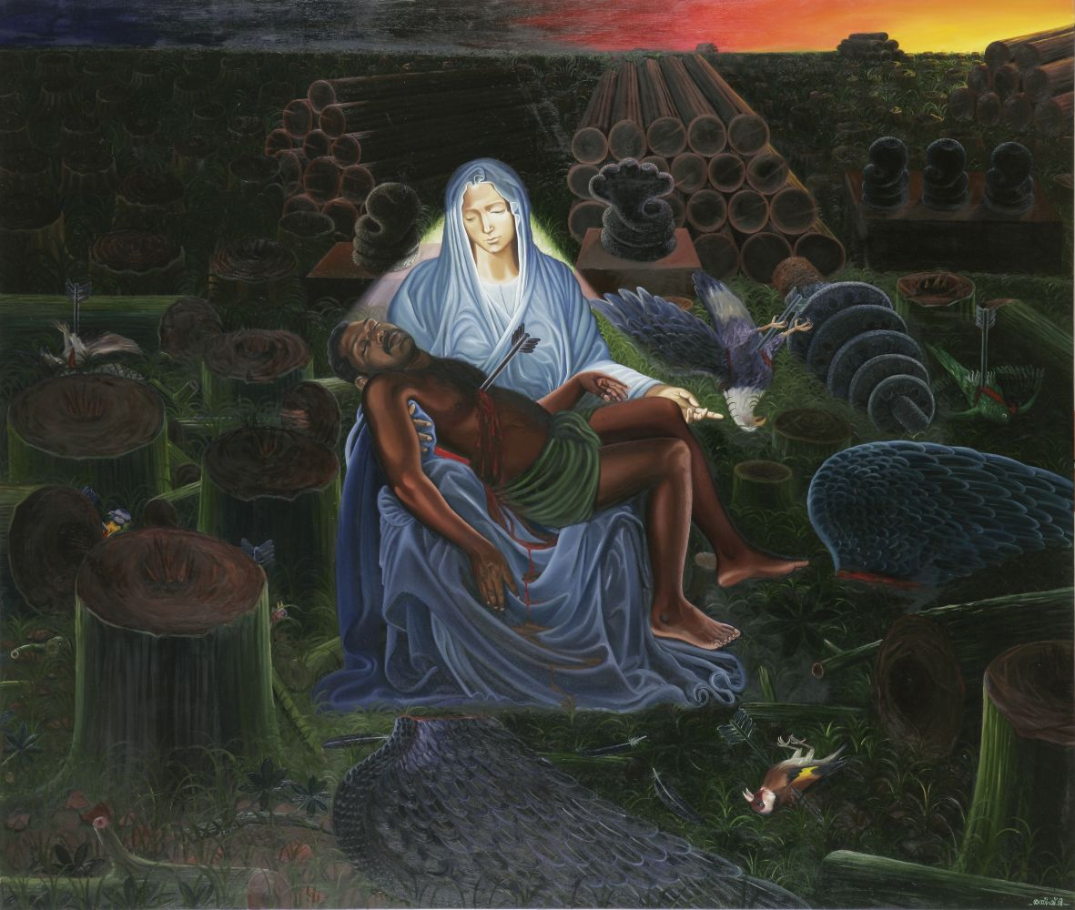 RATHEESH T., Mother Goddess, 2010, oil on canvas