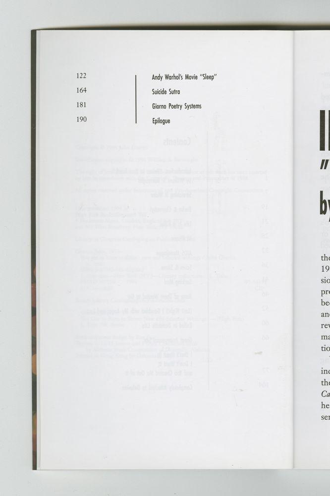You Got To Burn To Shine, 1994 (6) – Contents, p. 2