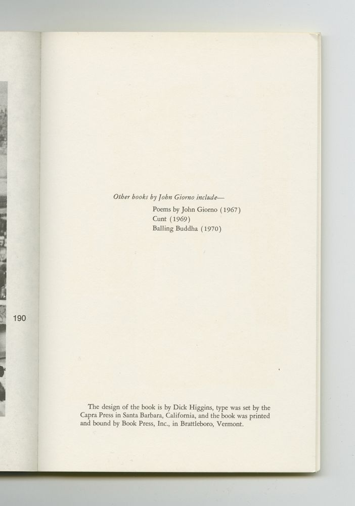 Cancer in My Left Ball, 1973 (6) – Other books by John Giorno
