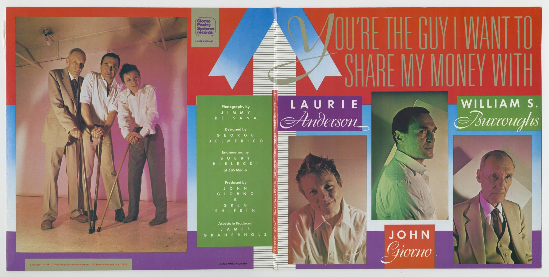 You're The Guy I Want To Share My Money With (1981), front and back covers