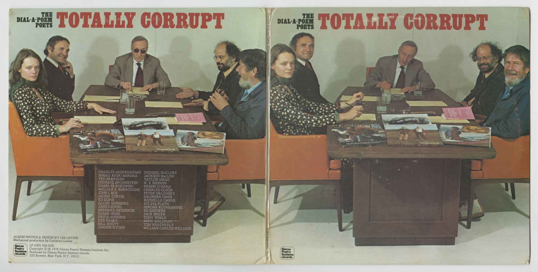 The Dial-A-Poem Poets: Totally Corrupt (1976), front and back covers