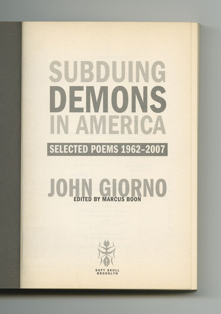 Subduing Demons in America, 2007 (4) – Title page