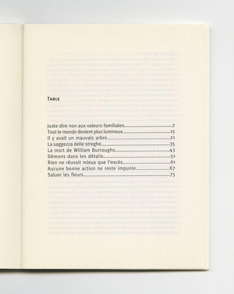 La sagesse des sorcières, 2004 (7) – Contents