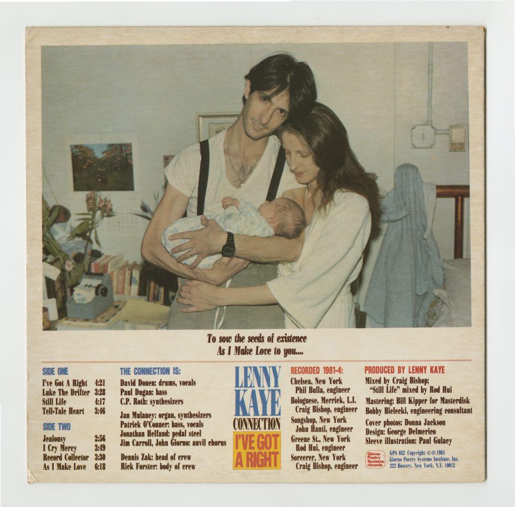 Lenny Kaye: I've Got A Right (1984), back cover