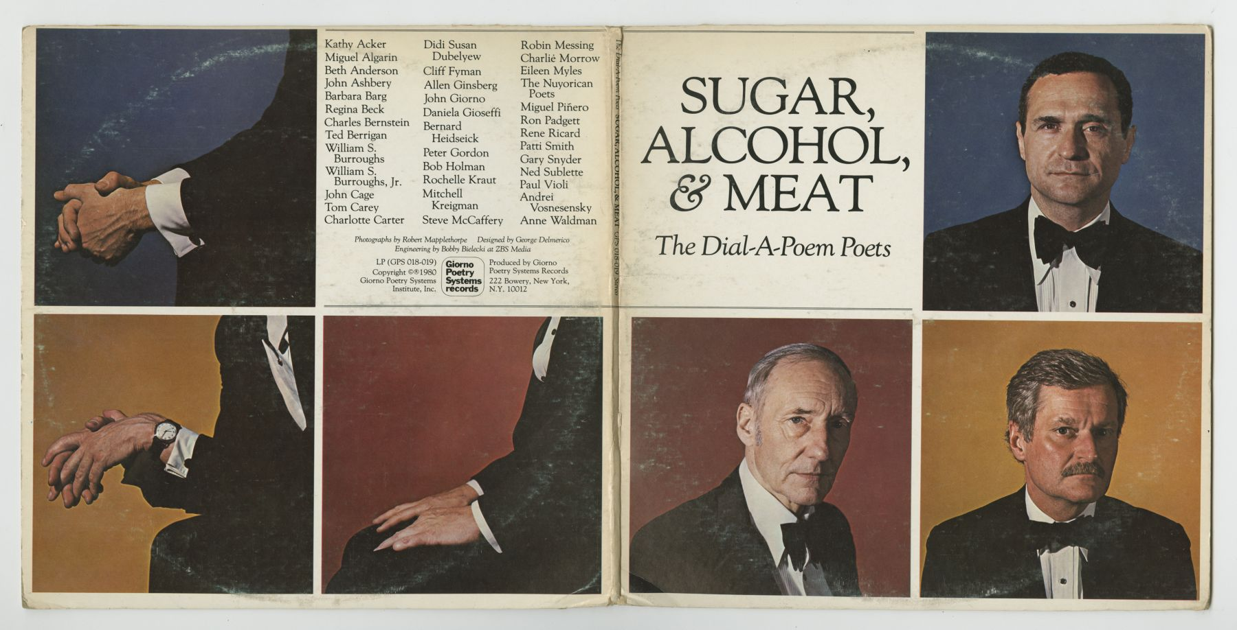 The Dial-A-Poem Poets: Sugar, Alcohol, & Meat (1980), front and back covers