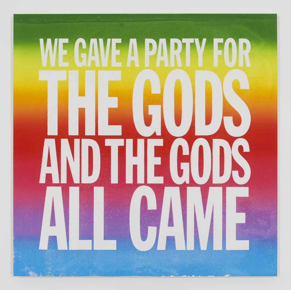 John Giorno, WE GAVE A PARTY FOR THE GODS AND THE GODS ALL CAME, 2014