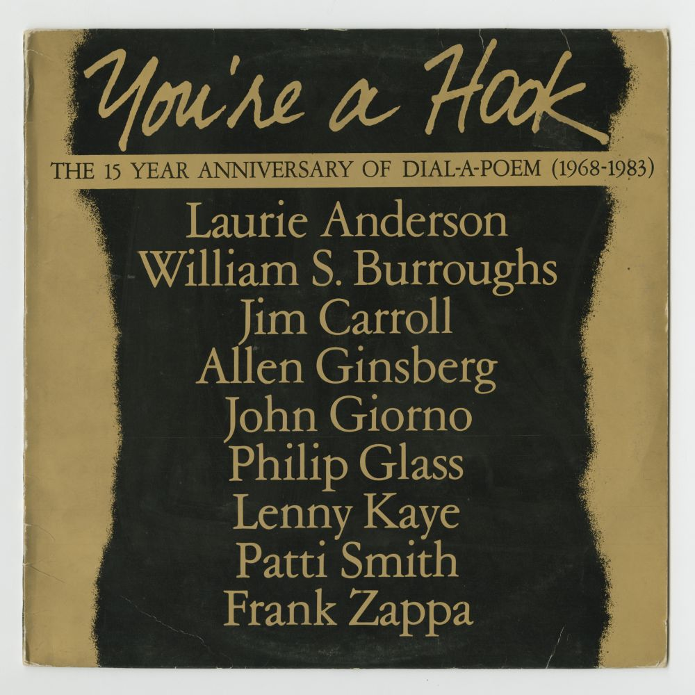 The Dial-A-Poem Poets: You're A Hook: The 15 Year Anniversary of Dial-A-Poem (1983), front cover