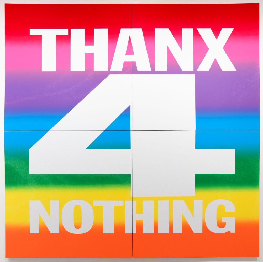 John Giorno, THANX 4 NOTHING, 2019
