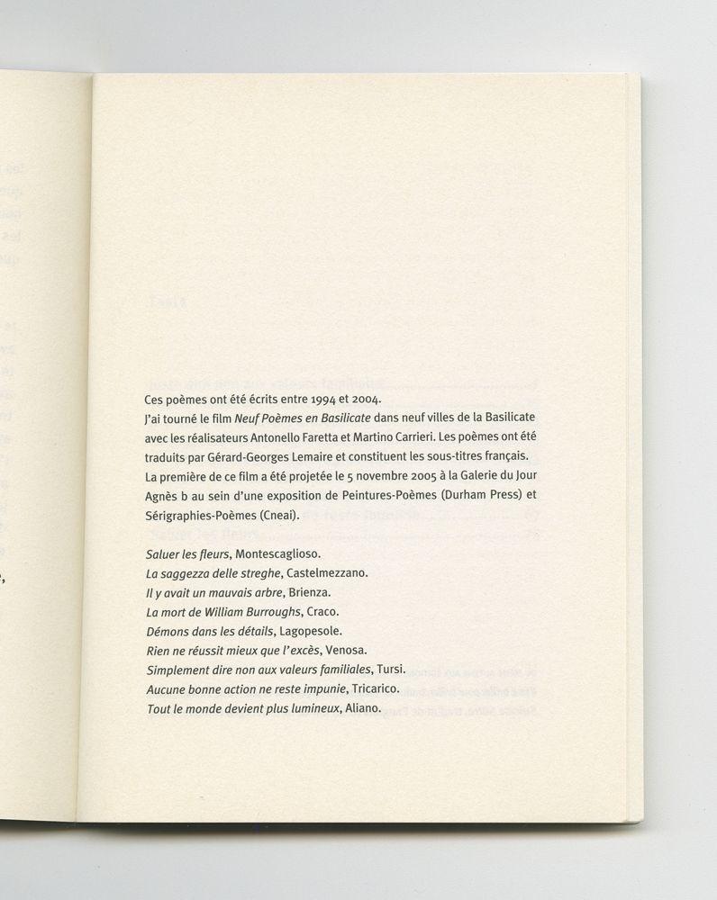 La sagesse des sorcières, 2004 (5) – Colophon