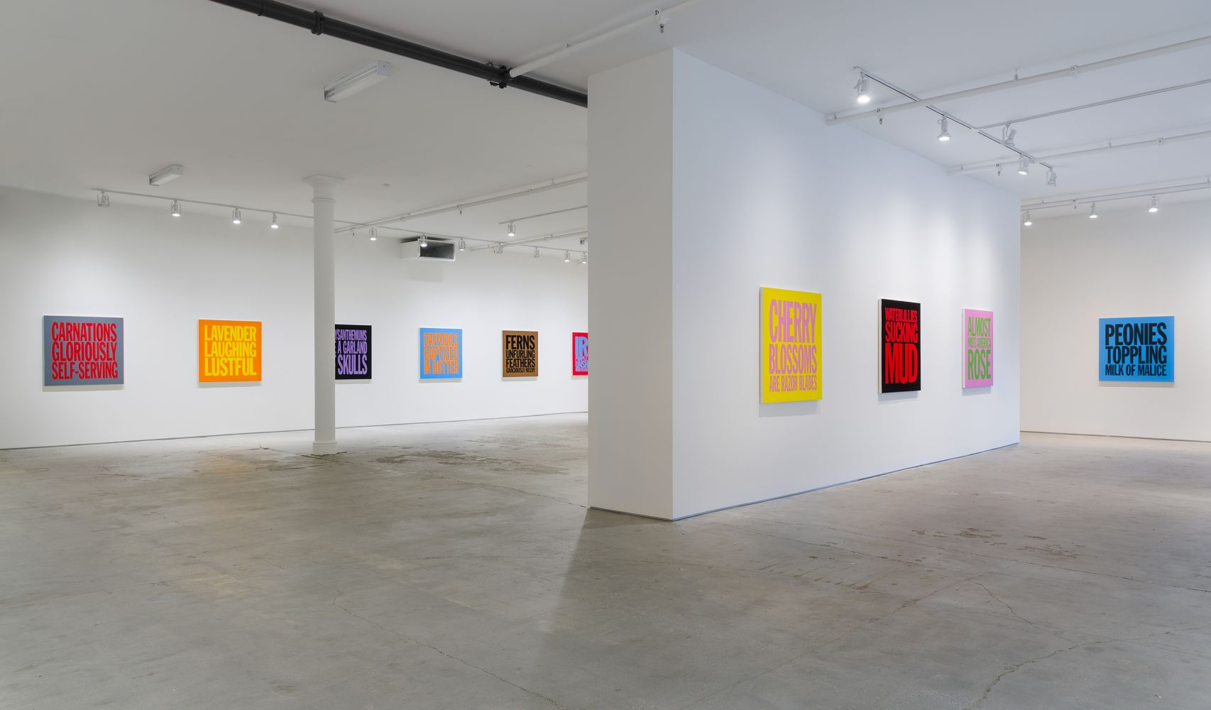 Installation View of Perfect Flowers at Elizabeth Dee Gallery, 2017
