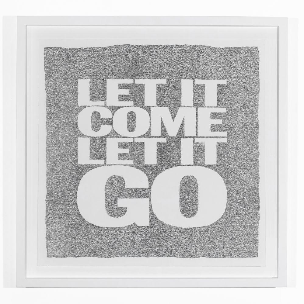 John Giorno, LET IT COME LET IT GO, 2019