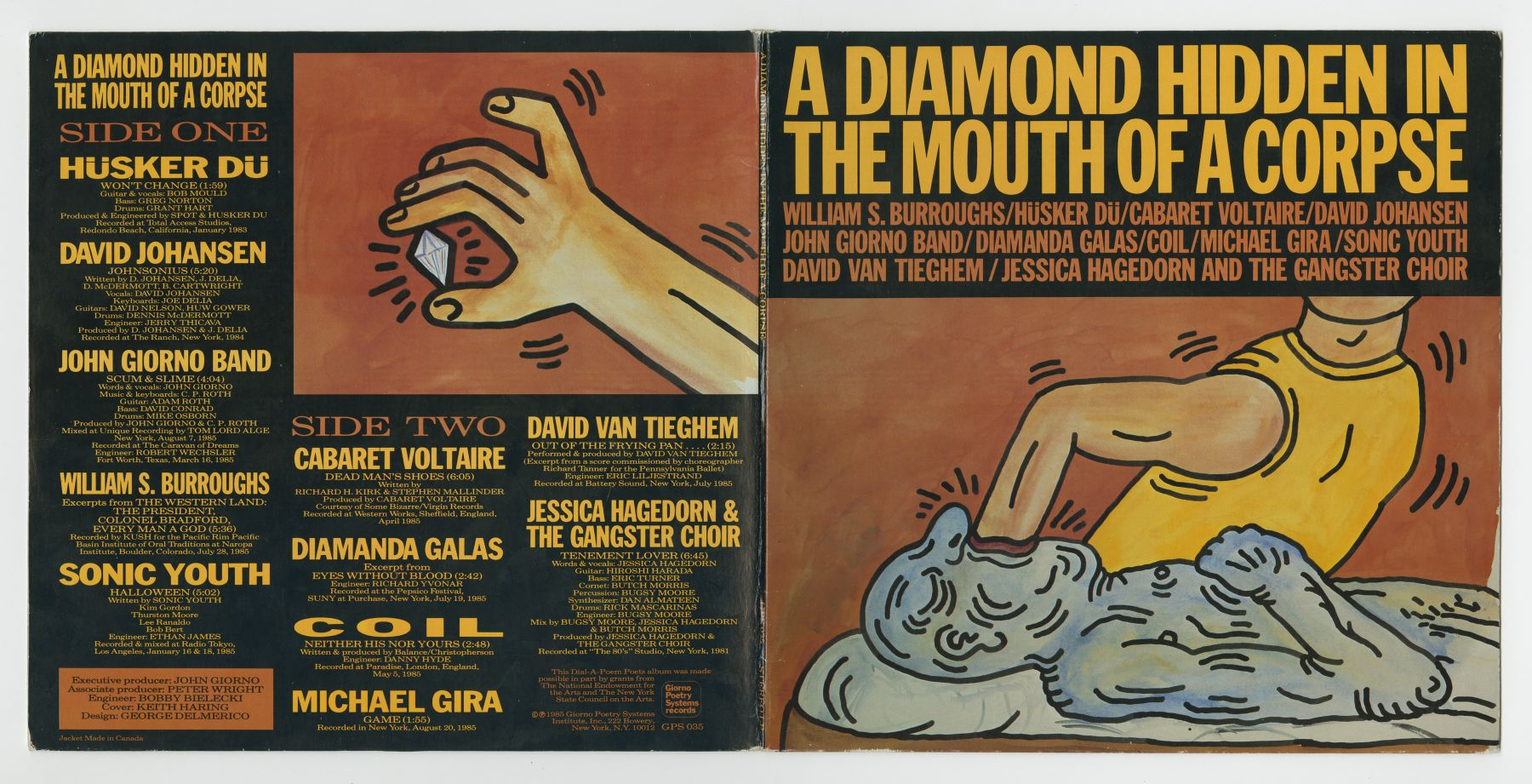 A Diamond Hidden In The Mouth Of A Corpse (1985), insert