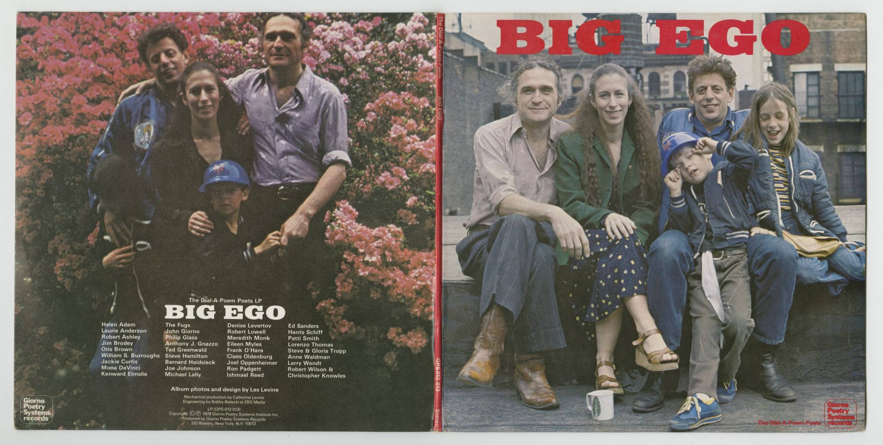 The Dial-A-Poem Poets: Big Ego (1978), front and back covers