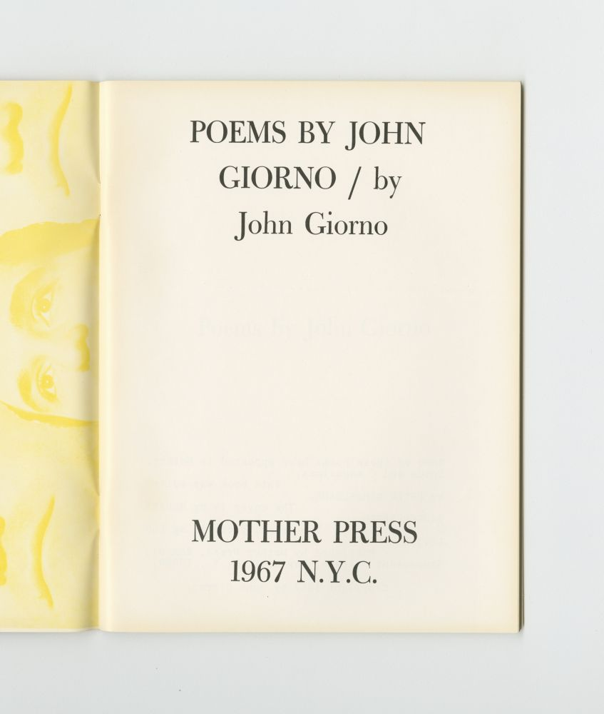 Poems, 1969 title page