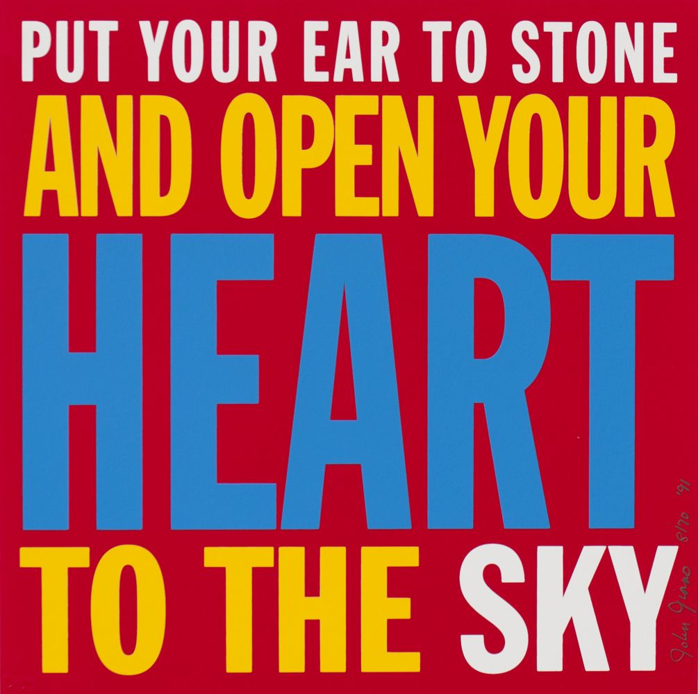 PUT YOUR EAR TO STONE AND OPEN YOUR HEART TO THE SKY, 1991
