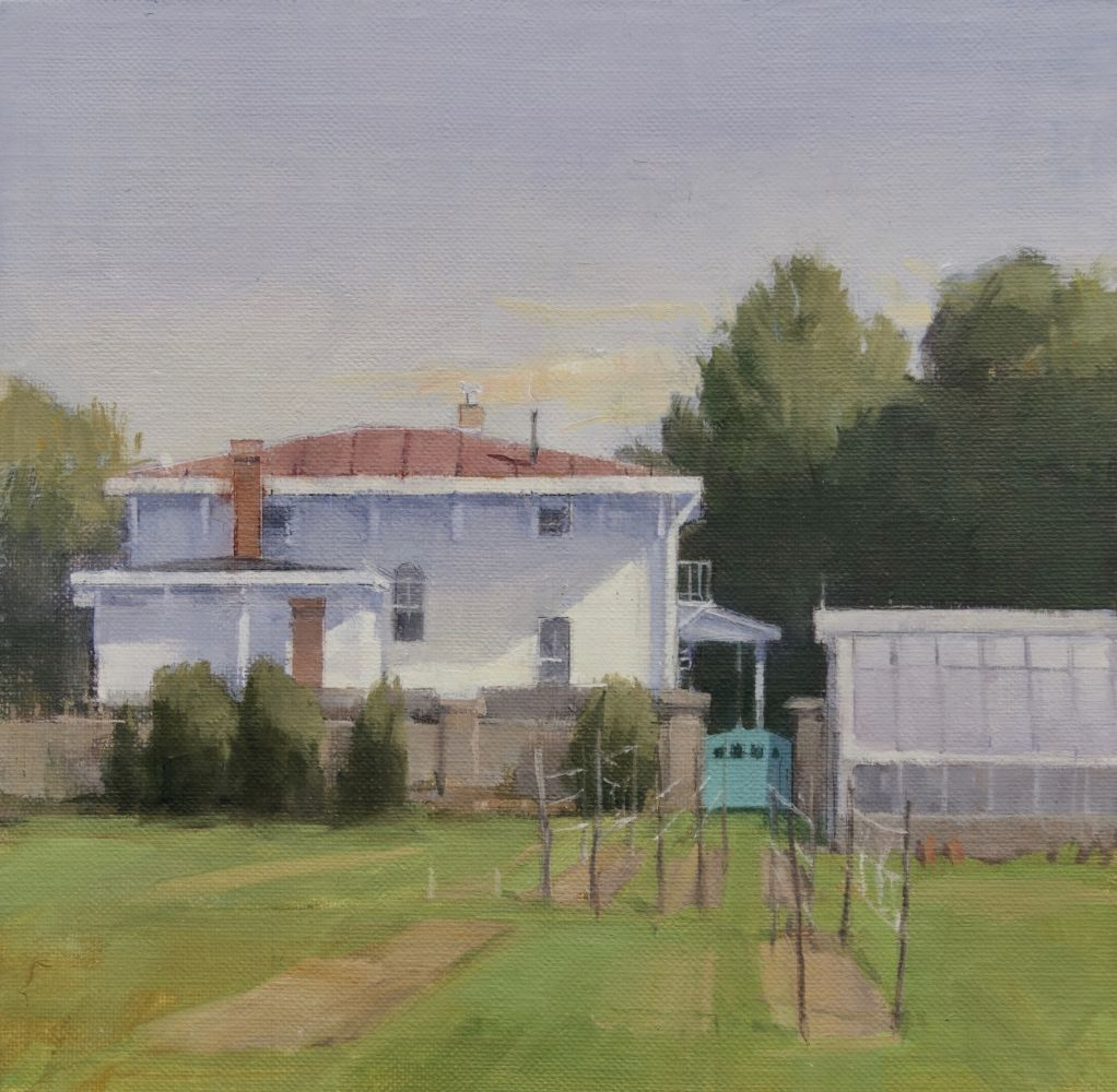 Jeff Reed, Parrish Garden, oil on panel, 8 x 8 inches